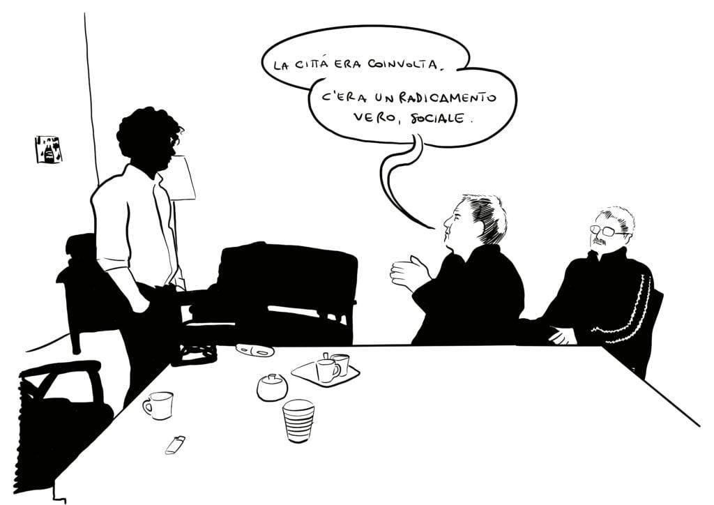 Disegno di Claudio Calia raffigurante Ivan Grozny Compasso